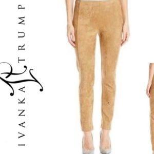Ivanka Trump suede pull on leggings
